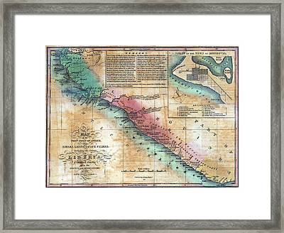 Map Of The West Coast Of Africa Framed Print by Everett