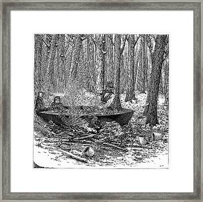 Maple Syrup, 1877 Framed Print by Granger