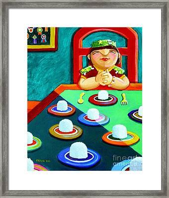 Marami Ka Pang Kakaining Bigas Framed Print by Paul Hilario