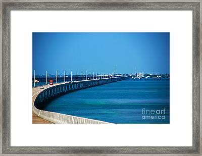 Marathon And The 7mile Bridge In The Florida Keys Framed Print by Susanne Van Hulst