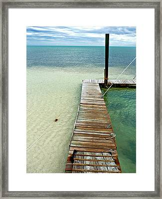 Marathon Dock Florida Keys Framed Print