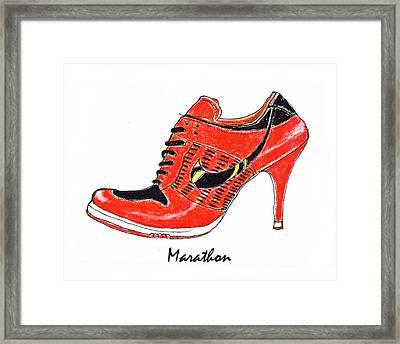 Marathon Framed Print by Lynn Blake-John