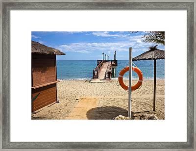 Marbella Beach In Spain Framed Print by Artur Bogacki