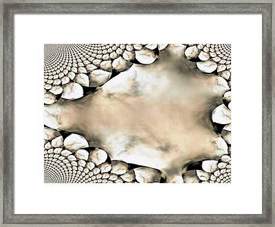 Marble Abstract Framed Print by Maria Urso