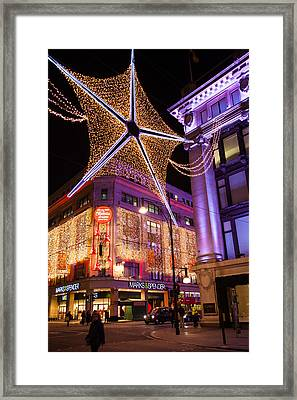 Marble Arch Christmas Framed Print by Adam Pender