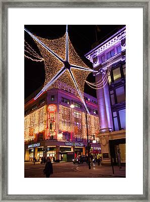 Marble Arch Christmas Framed Print