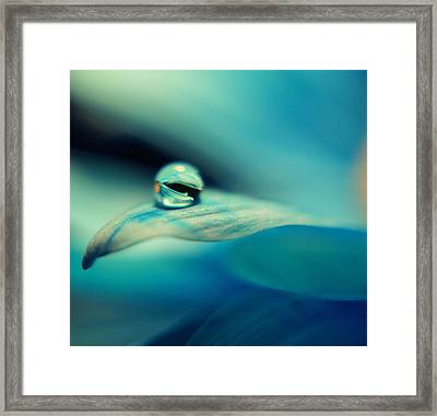 Marble Blue Framed Print by Wendy Riley- Athans
