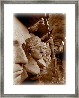 Framed Print featuring the photograph Marble Busts. Vatican by Tanya  Searcy