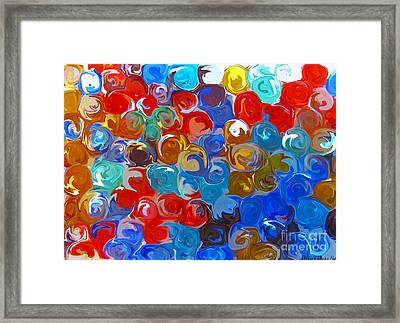 Marble Collection Abstract Framed Print by Debbie Portwood