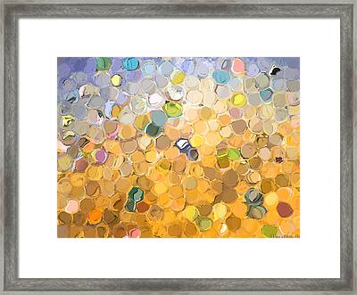 Marble Collection I Abstract Framed Print by Debbie Portwood