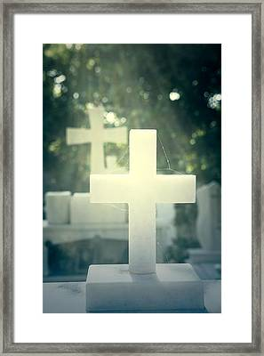 Marble Crosses Framed Print by Joana Kruse