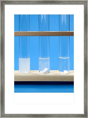 Marble In Different Strength Acids Framed Print