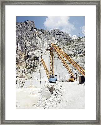 Marble Quarry Framed Print by Dirk Wiersma