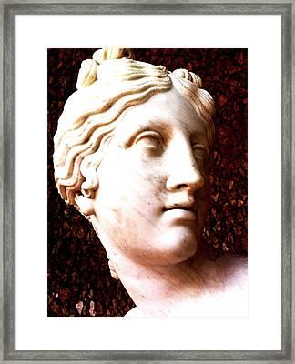 Marble Sculpture Framed Print by Paul Washington