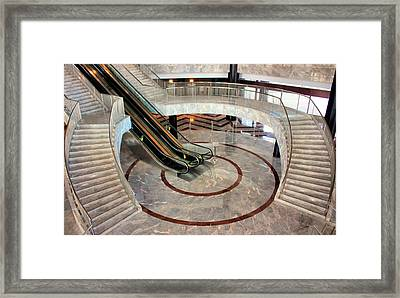 Marble Staircases Framed Print by Kristin Elmquist