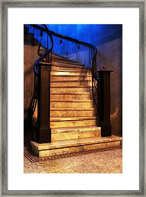 Marble Stairs Framed Print by Michelle Joseph-Long
