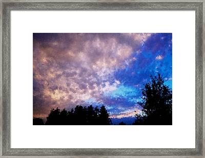 Marbled Framed Print by Kevin Bone