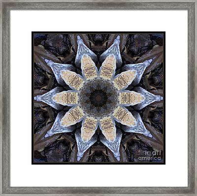 Marbled Mandala - Abstract Art Framed Print by Carol Groenen