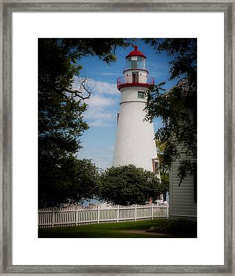 Marblehead Lighthouse Afternoon Framed Print by John Traveler
