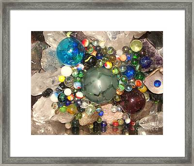 Marbles And Other Things Shiny Framed Print by Rachel Carmichael