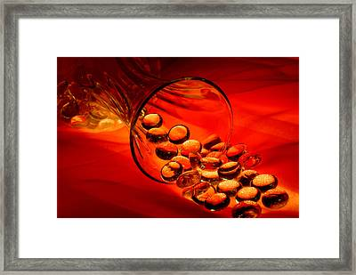 Marbles Framed Print by Dung Ma
