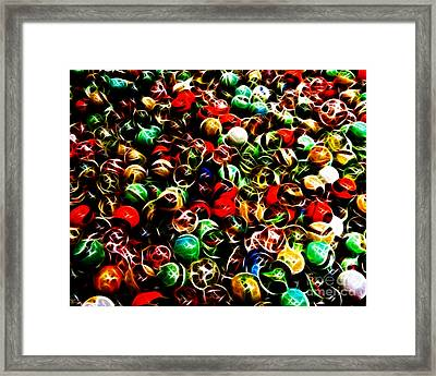 Marbles - Electric Framed Print by Wingsdomain Art and Photography