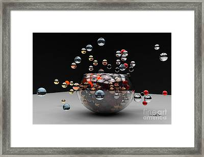 Marbles Fall Framed Print