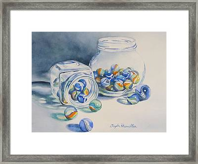 Marbles On Review Framed Print