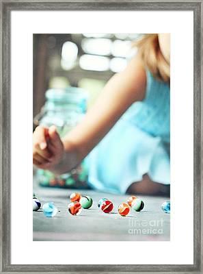 Marbles Framed Print by Stephanie Frey