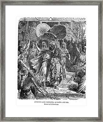Marc Antony & Cleopatra Framed Print by Granger