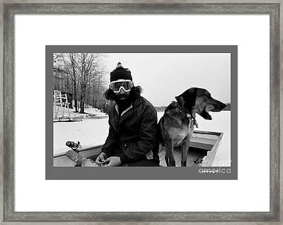 Marc Ice Boat Framed Print