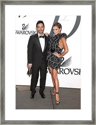 Marc Jacobs, Victoria Beckham Wearing Framed Print by Everett