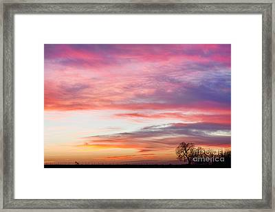 March Countryside Sunrise  Framed Print by James BO  Insogna