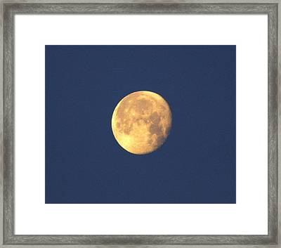 Framed Print featuring the photograph March Moon by Jeanne Andrews