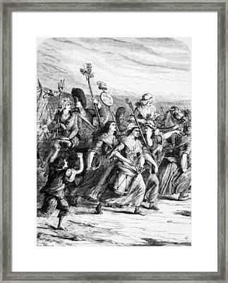 March Of The Women To Versailles, 1789 Framed Print by Everett