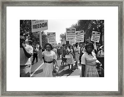 March On Washington, 1963 Framed Print