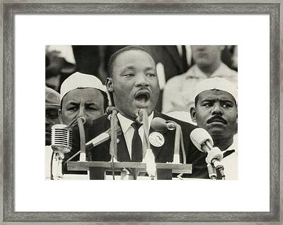 March On Washington. Martin Luther King Framed Print