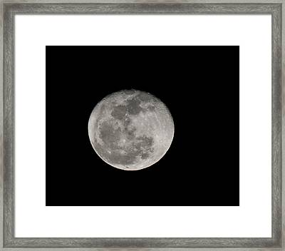 March Waning Moon Framed Print by Lara Ellis