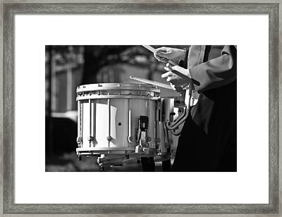 Marching Band Drummer Boy Bw Framed Print by James BO  Insogna