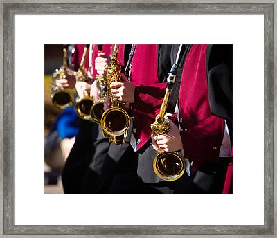 Marching Band Saxophones Cropped Framed Print by James BO  Insogna