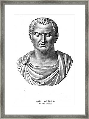 Marcus Antonius (83?-30 B.c.) Framed Print