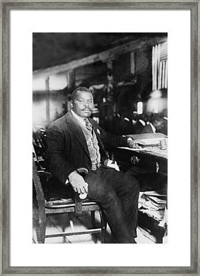 Marcus Garvey 1887-1940, Founded Framed Print by Everett