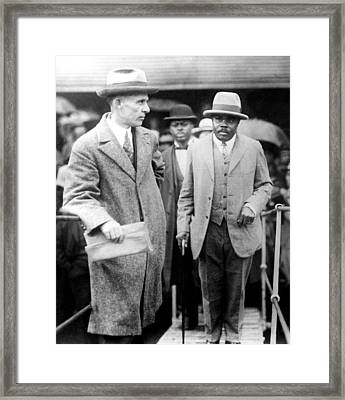 Marcus Garvey Is Deported From Framed Print by Everett