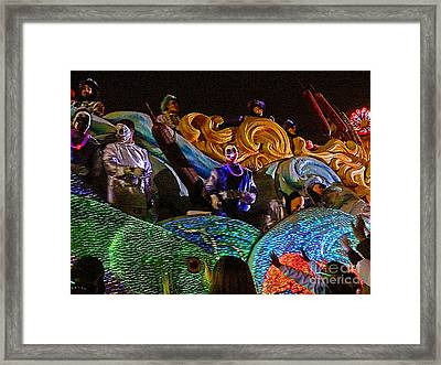 Framed Print featuring the photograph Mardi Gras Clown by Jeanne  Woods