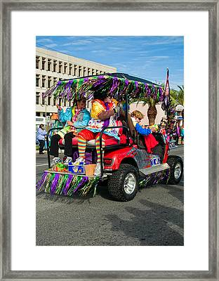 Mardi Gras Clowning Framed Print by Steve Harrington