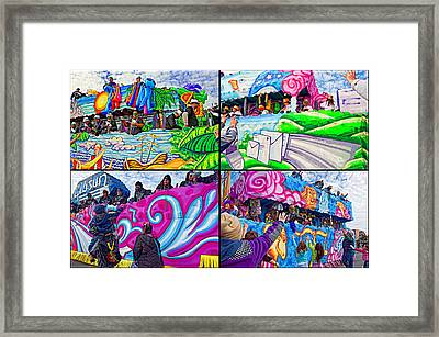 Mardi Gras Fun Framed Print by Steve Harrington