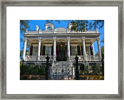 Framed Print featuring the photograph Mardi Gras House by Jim Albritton