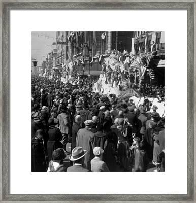 Mardi Gras In New Orleans, Photo Ca Framed Print by Everett