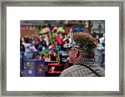 Framed Print featuring the photograph Mardi Gras Man by Jim Albritton