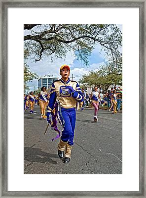 Mardi Gras Struttin' Framed Print by Steve Harrington